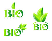 Bio organic logo Royalty Free Stock Photo