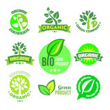 Bio - Organic - Natural icon set Stock Photography