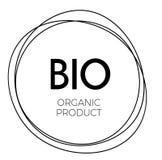 Bio organic product label. On white background Royalty Free Illustration