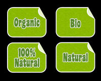 Bio and organic stickers Stock Image