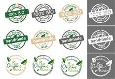 Bio organic wear tag Stock Photo
