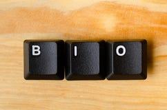 Bio palabra fotografía de archivo