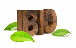 Bio- parola immagini stock