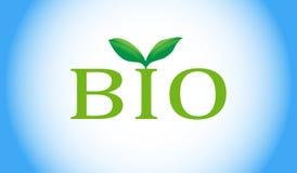Bio- parola con la pianta verde Immagine Stock Libera da Diritti