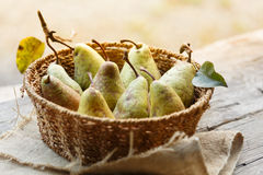 Bio pears Stock Photo