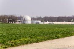Bio planta de gas fotos de archivo libres de regalías