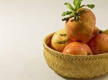 Bio pomegranates. Photo of natural nice pomegranates Royalty Free Stock Photos