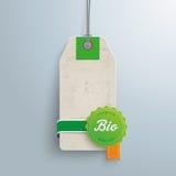 Bio Price Sticker Stock Image