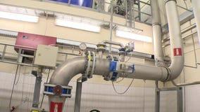 Bio producci?n del gas Depósito grande para el almacenamiento y los tubos del barro del tratamiento de aguas metrajes