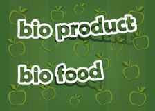Bio product and bio food. Realistic cut, takes the background color Stock Photo