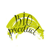 Bio product  - handwritten modern calligraphy on Stock Images