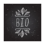 Bio - product label on chalkboard Royalty Free Stock Photos