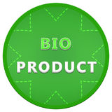 Bio product label. Green label bio product. Isolated circle Stock Photos