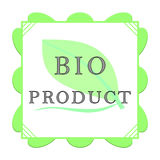 Bio product label Royalty Free Stock Image