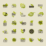 Bio product. Set of vector labels and emblems Stock Photo
