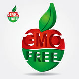 Bio product sign. Non genetically modifies plants - bio product sign stock illustration