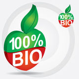 Bio product sign. Non genetically modifies plants - bio product sign vector illustration