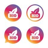 Bio product sign icon. Leaf symbol. Stock Image