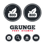 Bio product sign icon. Leaf symbol. Royalty Free Stock Images