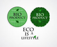 Bio product  stamps Royalty Free Stock Photography