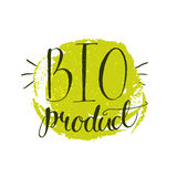 Bio product stricker with handwritten calligraphy Royalty Free Stock Photography
