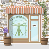 Bio products shop. Organic products store. Royalty Free Stock Photo