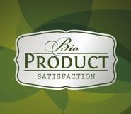 Bio produkt för silveretikett Royaltyfri Foto