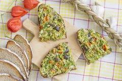 Bio raw vegan guacamole Stock Photo