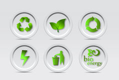 Bio Recycle Icons Stock Photography