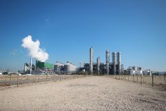 Bio refinery of Alco Energy in the Europoort Harbor in the port of Rotterdam in the Netherlands.  stock photography