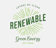 Bio and renewable green energy. Is a vector illustration for any use stock illustration