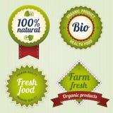 Bio Retro Labels set Stock Image