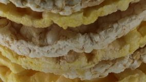Bio Rice and Corn cakes. Rice and Corn cakes bio stock footage