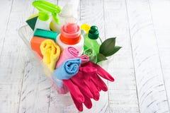 Bio- rifornimenti di pulizia naturali organici Salvo il concetto del pianeta immagini stock libere da diritti