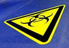Bio- rischio! Fotografie Stock