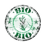 Bio rubber stamp Stock Image