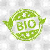 Bio Rubber Stamp Seal - Green Vector Illustration - Isolated On Transparent Background vector illustration