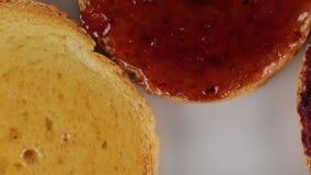 Bio Rusks multi colors fruit. Breakfast stock video