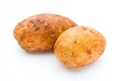 A bio russet potato isolated white background. A bio russet potato isolated white background royalty free stock image