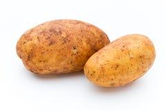 A bio russet potato isolated white background. A bio russet potato isolated white background royalty free stock photography