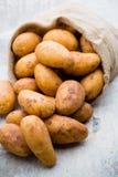 A bio russet potato wooden vintage background.  stock images