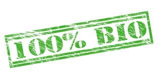 bio sello verde del 100 por ciento Fotografía de archivo