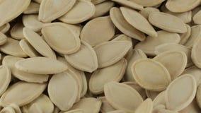 Bio- semi di zucca stock footage