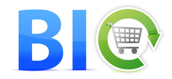 Bio shopping concept illustration design Royalty Free Stock Photos