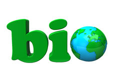 Bio sign with planet earth Royalty Free Stock Image