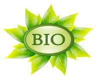 Bio- simbolo isolato Fotografia Stock Libera da Diritti