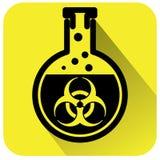 Bio sinal de aviso do perigo ilustração do vetor