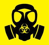 Bio símbolo de la careta antigás del peligro Imagenes de archivo