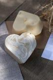 Bio soap hearts Royalty Free Stock Photo