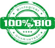 Bio stamp Royalty Free Stock Photo